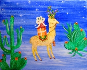Fa la la Llama. Saturday, December 7th from 3:30 to 5:30 p.m.
